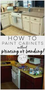 Repainting Kitchen Cabinets Without Sanding Interesting Decorating