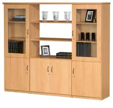wall unit with open shelves