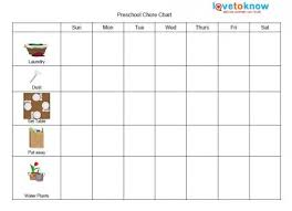 Blank Chore Chart For Adults Printable Chore Charts For Kids Lovetoknow