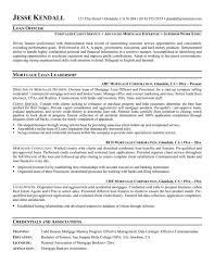 Loan Officer Resume Example Resume Mortgage Loan Officer Job