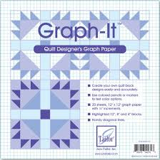 June Tailor Graph It Graph Paper 12 By 12 Inch 20 Per Package