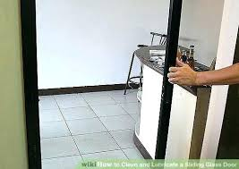 cleaning sliding glass door track how to remove a sliding glass door from its track image