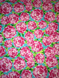 Lilly Pulitzer Fabric Fabric Traditions Rose Hot Pink Fabric 1 Yard First Impressions