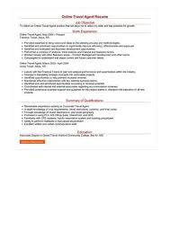 Travel Agent Job Description Stunning Resume Work And Travel Find Your World