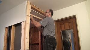 How to frame a closet Room Onthehouse Closet Wall Frame And Sheetrock Installation Youtube Bathroom Remodeling Part 7 Closet Wall Frame And Sheetrock