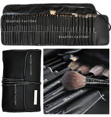 35 pcs professional makeup brushes set all time artist pure black az811 ebay