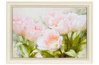 «<b>Репродукция в раме</b> 82,5х62,5 см Hoff Розовые тюльпаны ...