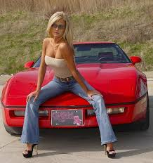 Sexy girls on corvettes
