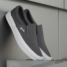 vans classic slip on perf leather smoked pearl