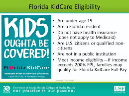 Kidcare Eligibility Chart Fl Kidcare Income Eligibility Kids