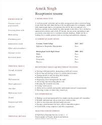 Resume Template For Medical Receptionist Medical Receptionist Resume