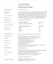 Resume Template For Medical Receptionist Medical Receptionist
