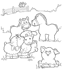 Farm Animal Coloring Pages 360coloringpages