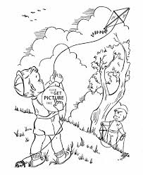 Small Picture Kite Coloring Pages Printable With Craft Ideas Letter Template K
