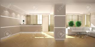office lobby. office reception area 3d rendering of a modern light lobby with