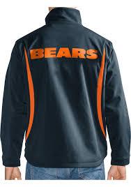 chicago bears mens navy blue softshell heavyweight jacket image 2