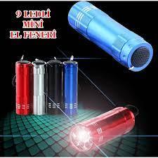 Anka Süper Parlak 9 Ledli Metal Mini El Feneri-Siyah Fiyatı