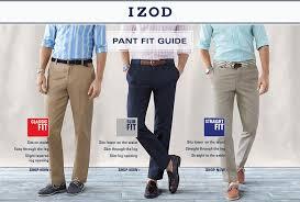 Izod Shorts Size Chart Mens Izod Pant Fit Guide Macys