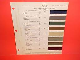 President Paint Color Chart 1939 Studebaker State Commander President Paint Chips Color
