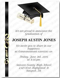 Invitation For Graduation Personalized Graduation Commencement Invitation Gradcom904 Sold In Packs Of 12