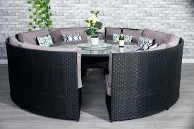 rattan table and chairs conservatory black rattan outdoor garden sofa round dining table set furniture maxi