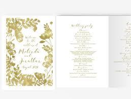 Wedding Booklet Template Wedding Program Booklet Diy Editable Ms Word Template Floral Gold