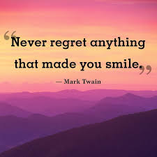 Quotes on smile Inspirational Positive Life Quotes Never regret anything that 81