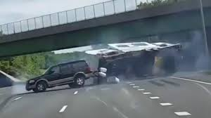 Camper crash: RV swerves into traffic, flips on highway | Fox News Video