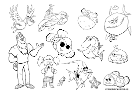 48 Finding Nemo Characters Coloring Pages Finding Nemo Coloring