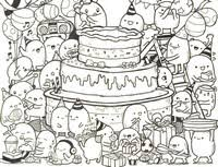 Small Picture Adult Coloring Pages Happy Birthday