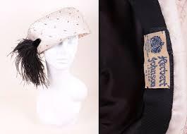 Vintage 1960's Herbert Johnson Silk Off White / Cream | Etsy