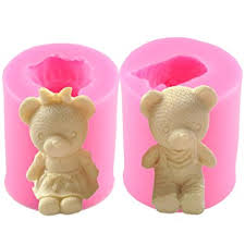 Mujiang Bear Silicone 3D DIY Soap Candle Making ... - Amazon.com