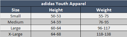 Adidas Medium Size Chart Adidas Spain 2020 Home Jersey Youth