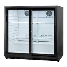 Sliding Glass Door All-Refrigerator in Black-SCR700 - The Home Depot