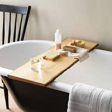 Alluring Bathtub Table Bathroom Tray For Your Accessories Brown ...