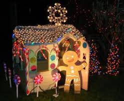 kids playhouse turned into lifesized gingerbread house!