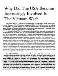 why did the usa become increasingly involved in the vietnam war  page 1