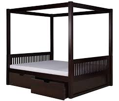 Camaflexi Full Size Canopy Bed with Drawers - Mission Headboard ...