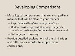 comparison contrast essay comparison contrast comparison  4 developing comparisons