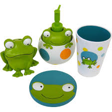 bathroom accessories set walmart. peeking frogs 4pc bath accessory set - walmart. bathroom accessories walmart