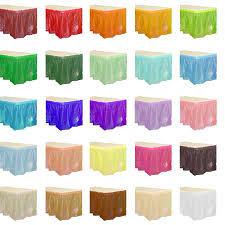 plastic table skirts