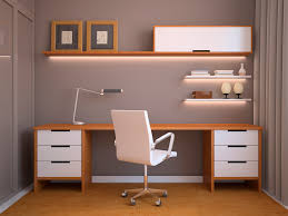 office modern style home office furniture with light grey wall paint and wooden desk table