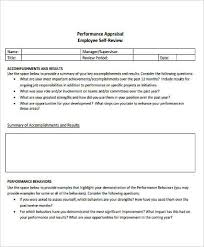 8 Self Performance Review Examples Doc Pdf