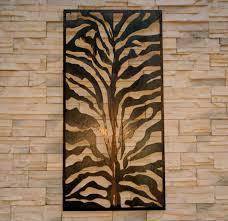 garden screen zebra print design