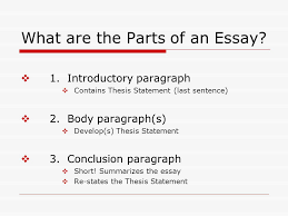 writing the essay definition from paragraph to essay ppt  what are the parts of an essay 11