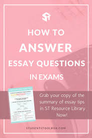 essay mind map how to answer essay questions in exams students how to answer essay questions in exams students toolbox if you are looking for tips and