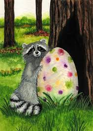 Raccoons In Vending Machine Gorgeous Raccoon Hiding Easter Egg Par AmyLyn Bihrle Cartoon Characters