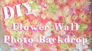 diy flower wall photo booth backdrop
