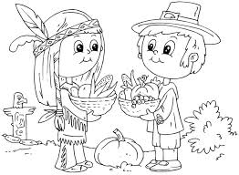 Pilgrim And Indian Coloring Page Reliable Coloring Pages For