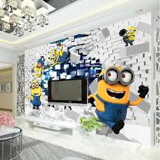 oversized 3d minion wall art for a home cinema